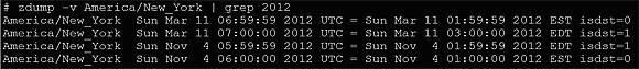 zdump command output