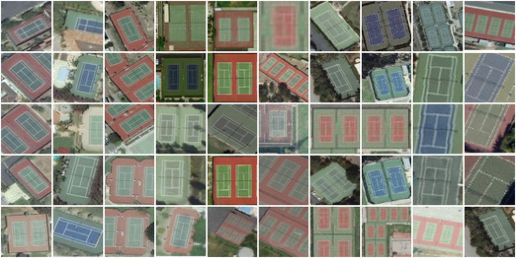 Images of lots of tennis courts