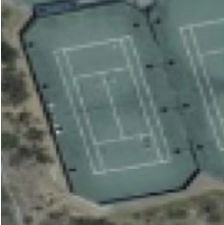 Image of one tennis court