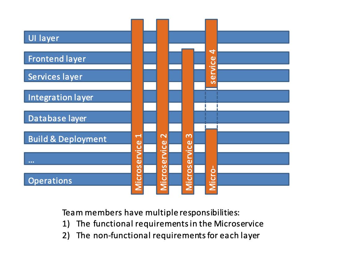 Exemplary matrix of developer responsibilities