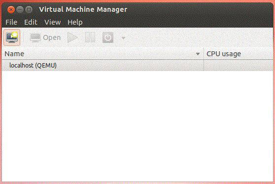 Virtual Machine Manager window