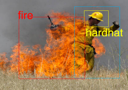 Image of firefighters in a fire