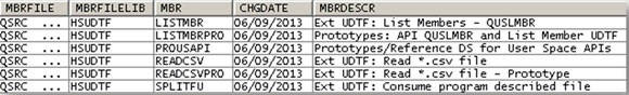 Result table from the ListMember_Fnc UDTF