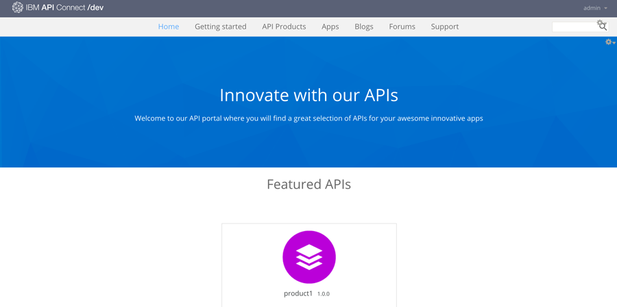 Default Developer Portal