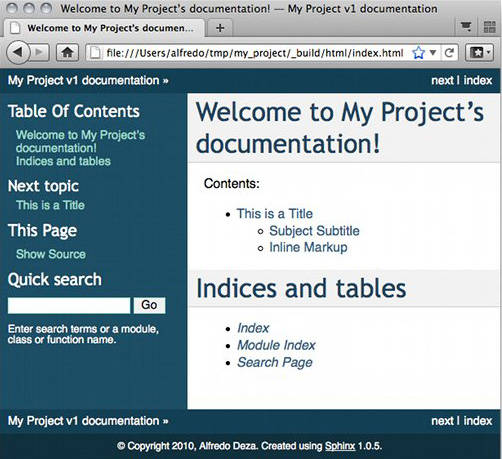 Easy and beautiful documentation with Sphinx – IBM Developer