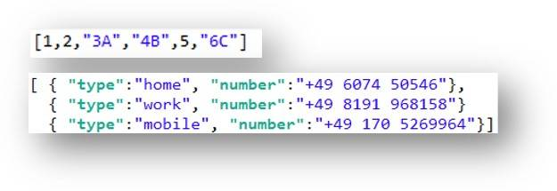JSON arrays