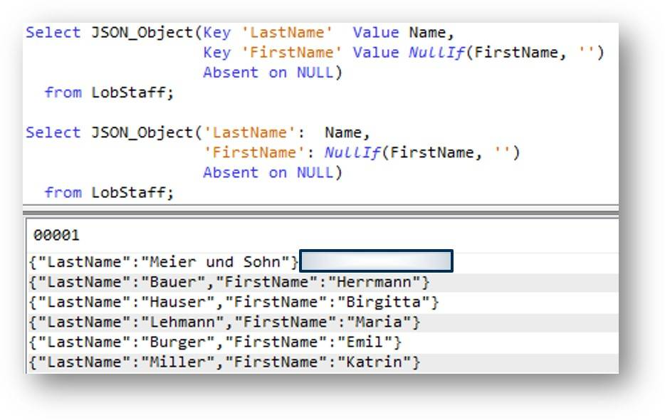 SQL JSON publishing functions – IBM Developer