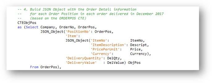 CTE – Generating order detail information JSON data