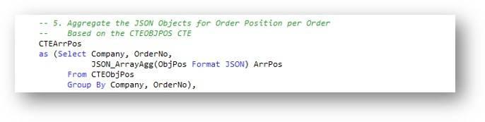 CTE – Accumulating order position JSON data