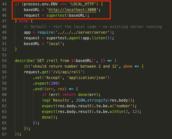 test pointing to local http