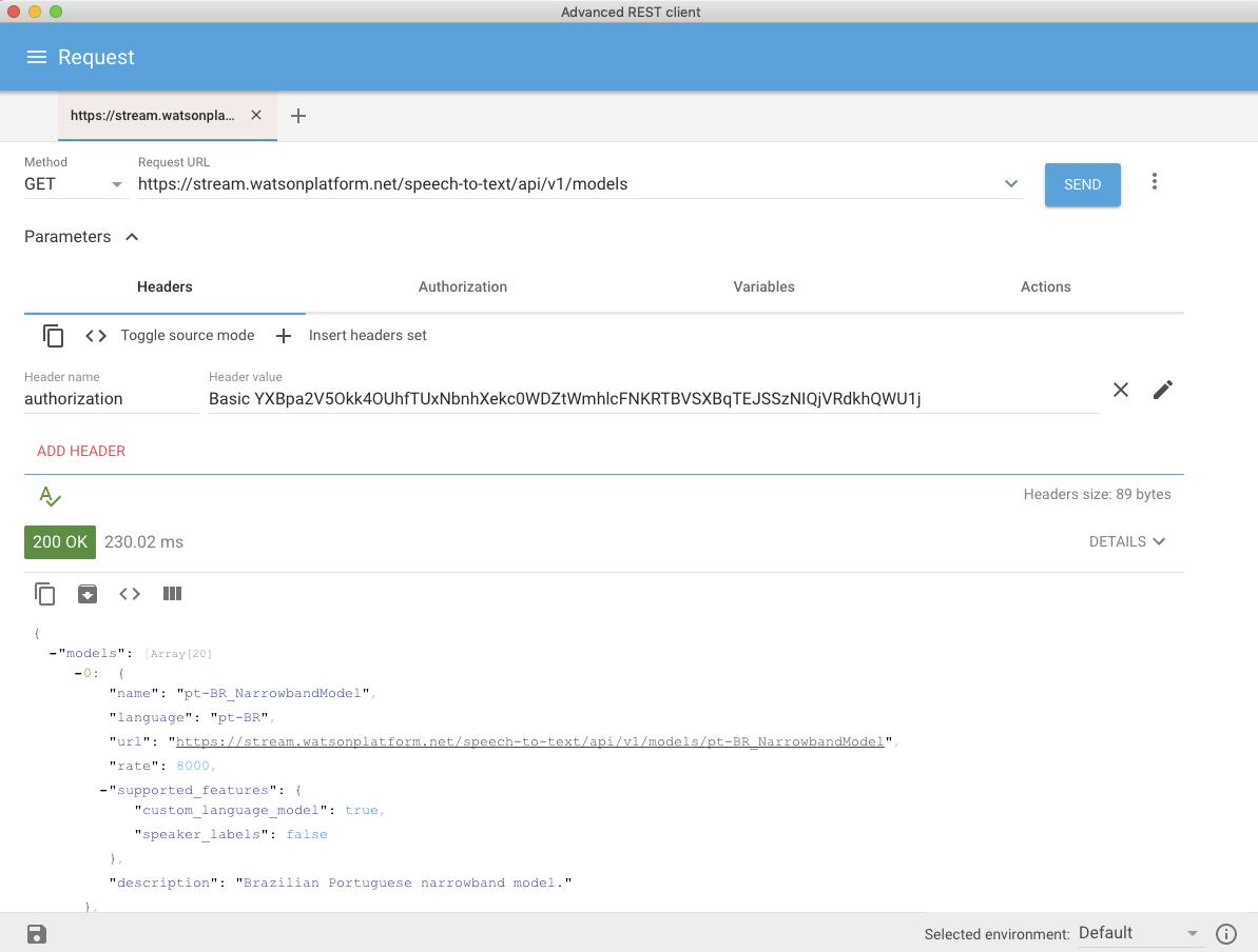 Advanced REST Client screen capture