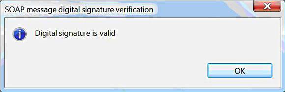 Valid SOAP Message Digital Signature