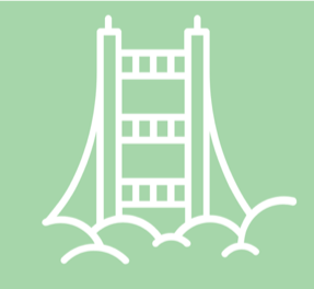Icon for San Francisco showing golden gate bridge