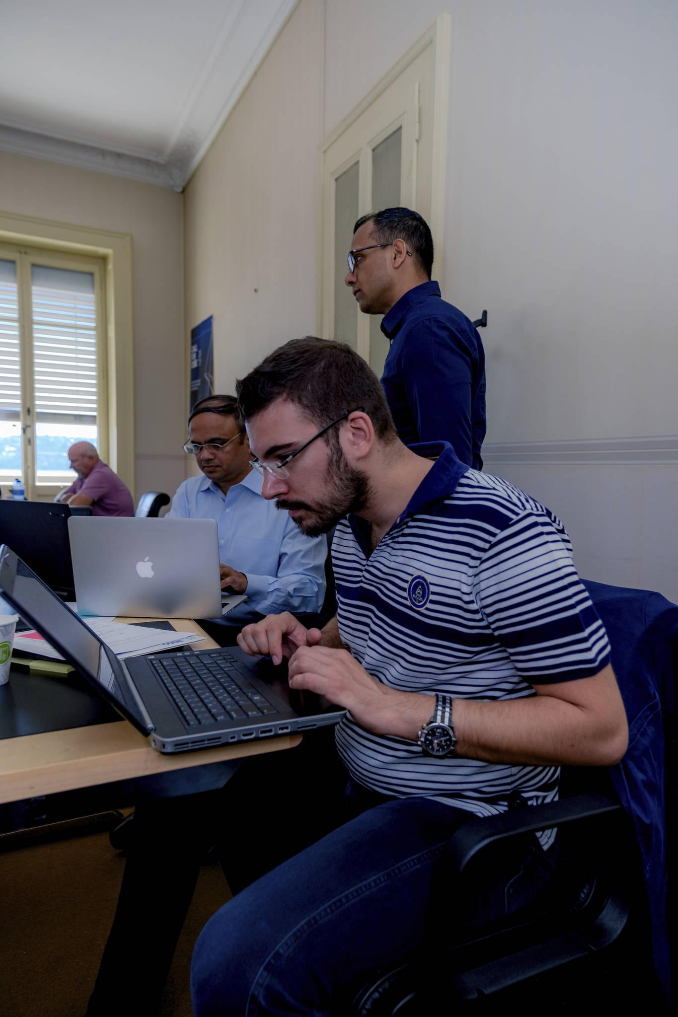 konstantinos team at work