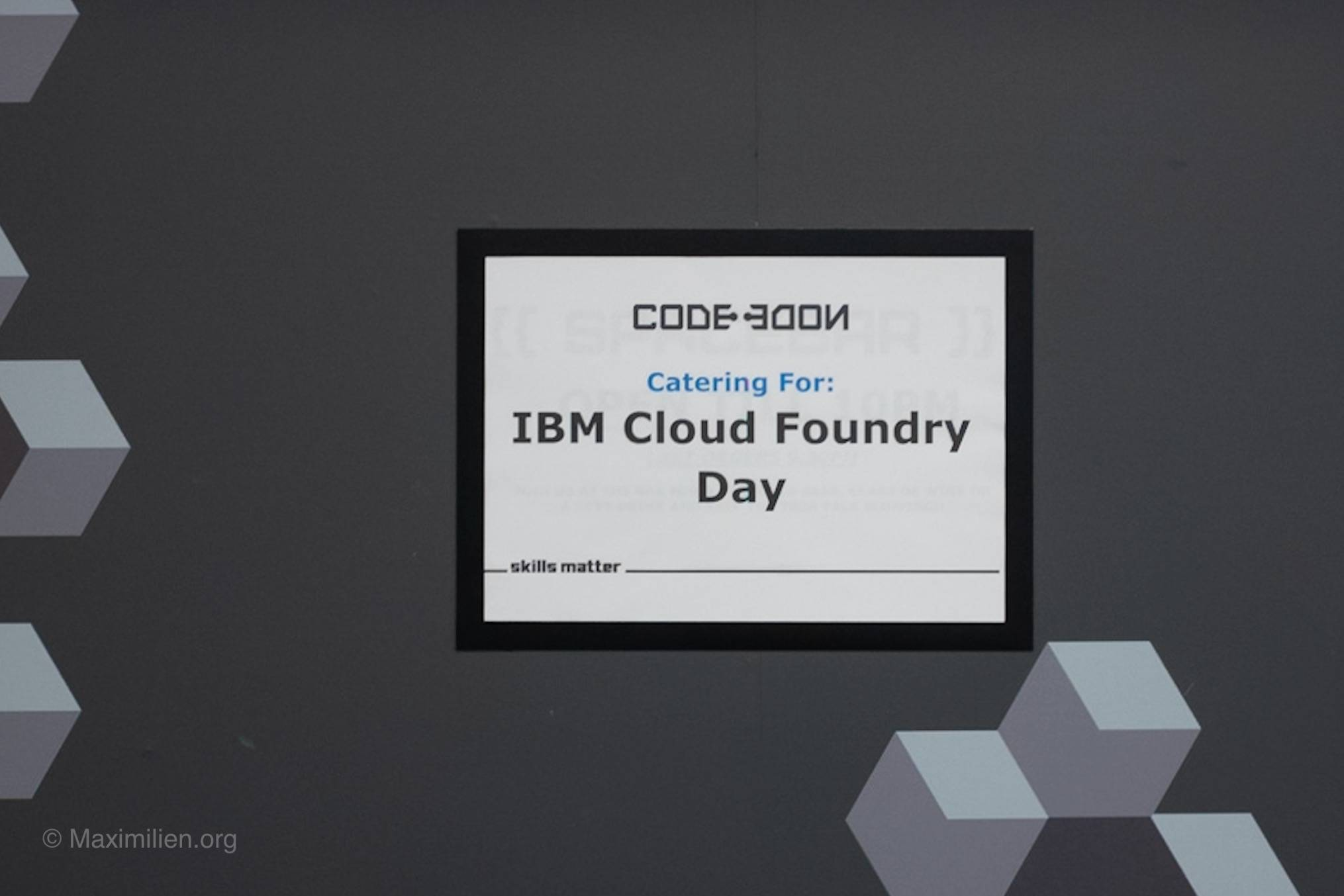 IBM Cloud Foundry Day in London in 2018