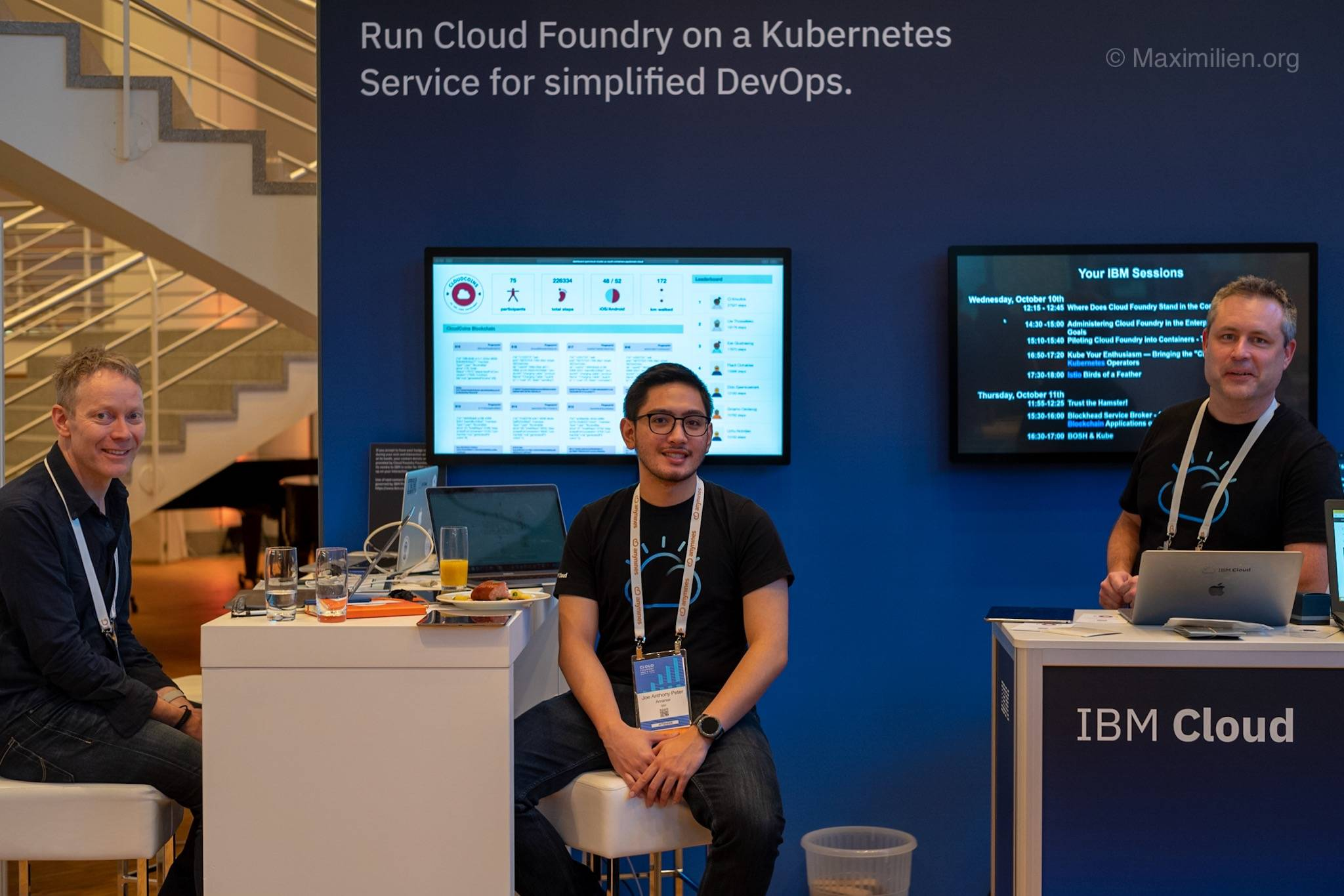The IBM booth at the Cloud Foundry Summit 2018 in Basel