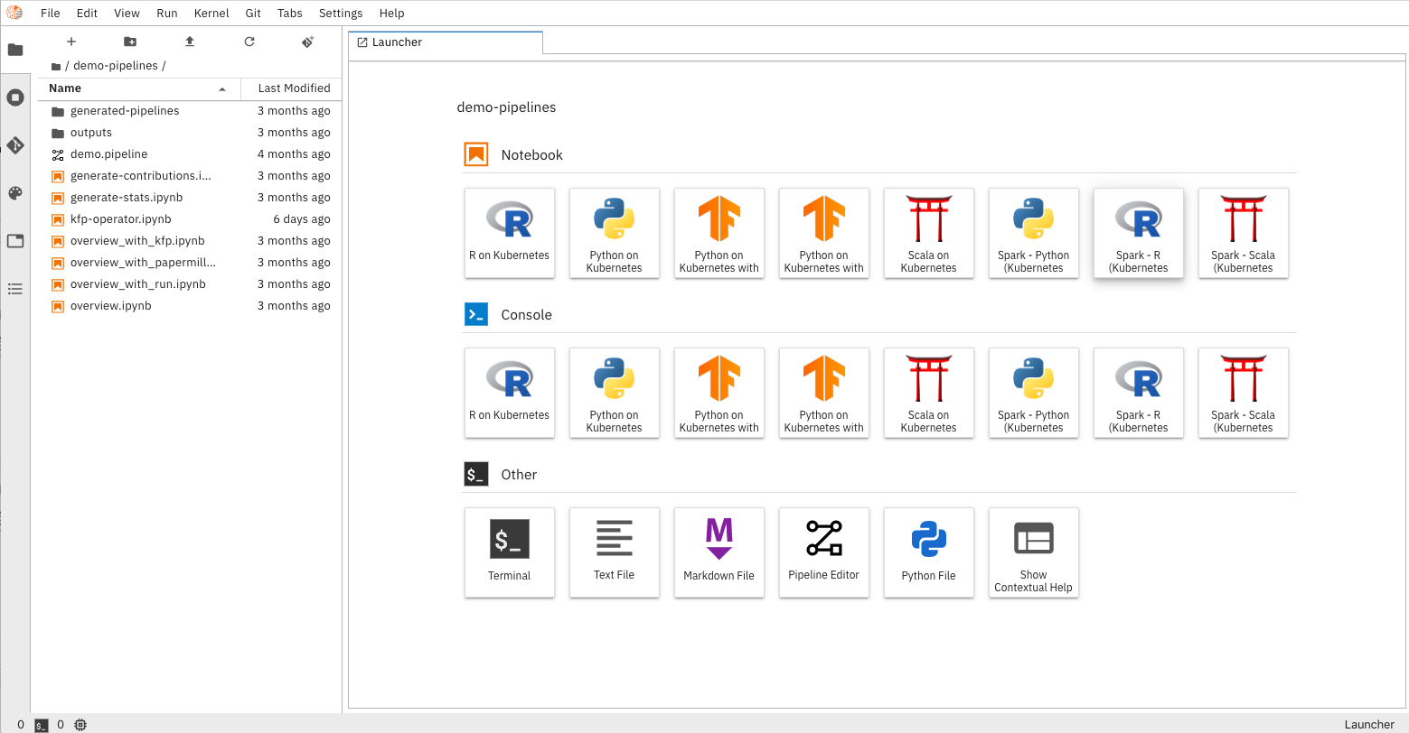 View of main page of AI Workspace