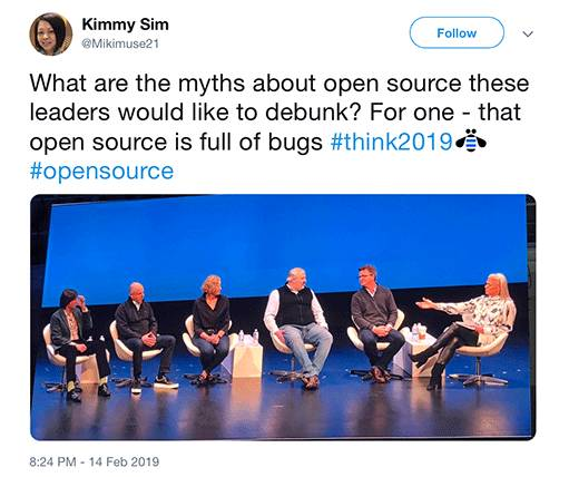 Open source panel at Think 2019