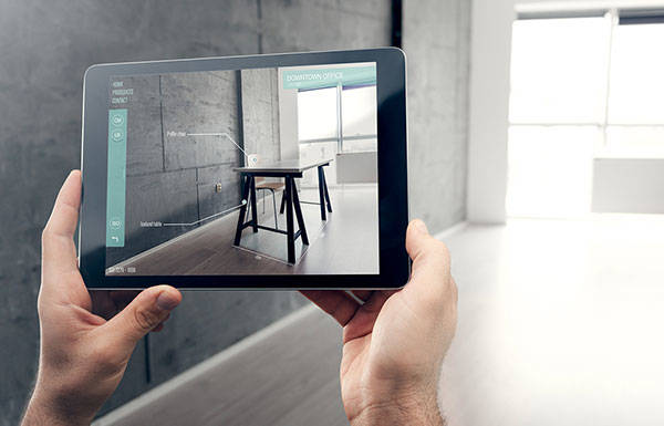 Build a 'try-and-buy' mobile application with augmented reality capabilities for a furniture store