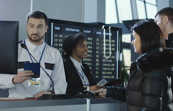 Implement an automated airport security control system