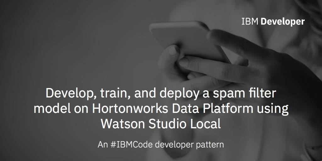 Develop, train, and deploy a spam filter model on