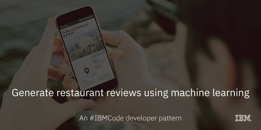 Generate restaurant reviews using deep learning