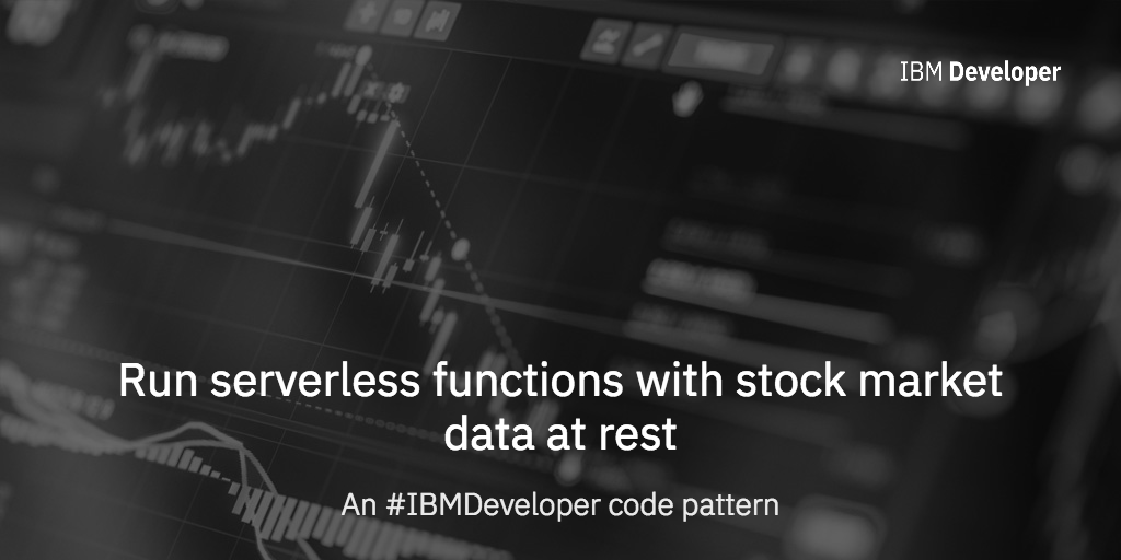 Run serverless functions with stock market data at rest