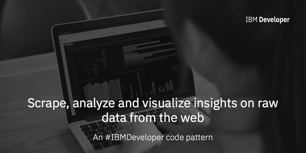 Scrape, analyze and visualize insights on startups using IBM