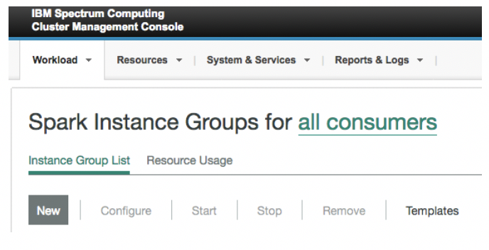 Creation of Spark Instance Group #1