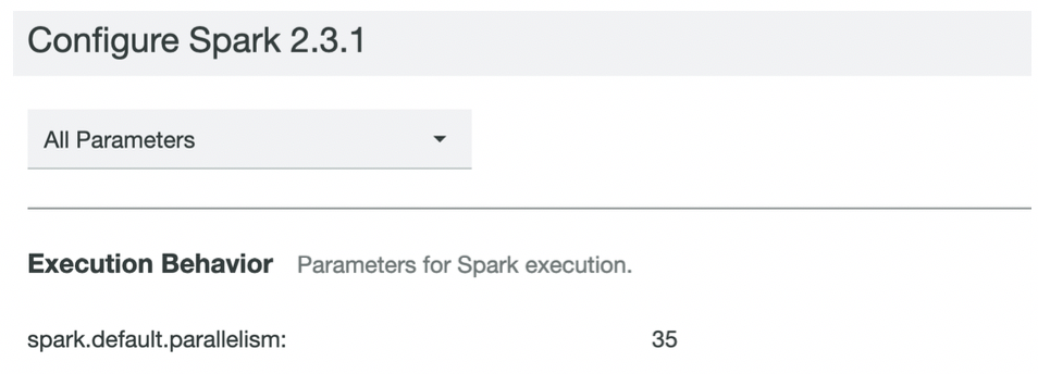 New Spark instance group configuration