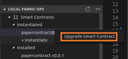 Upgrading smart contract in VSCode