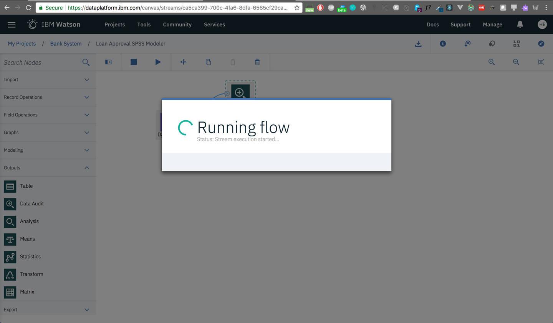 spss: Flow Running