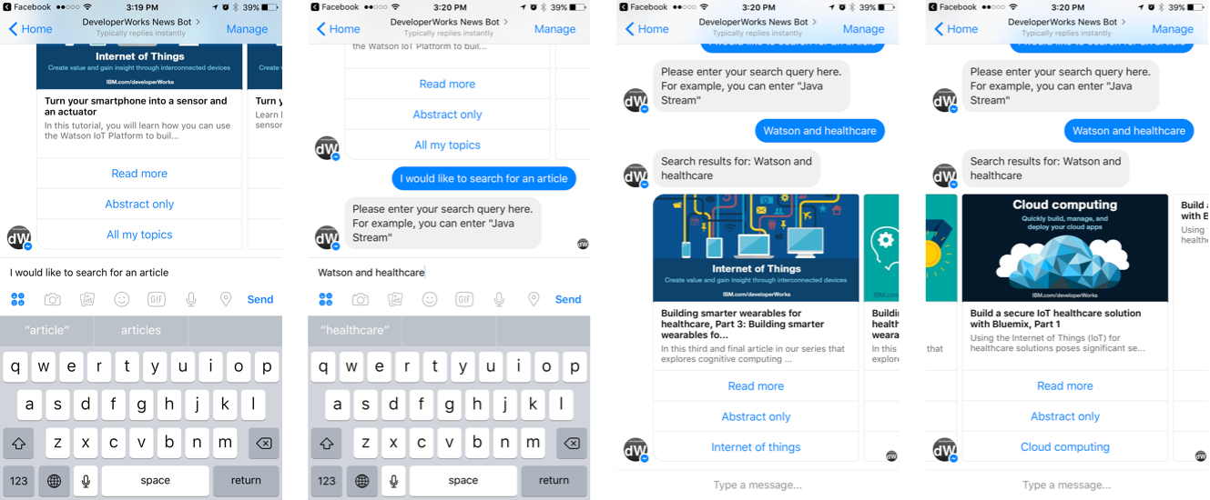 Archived | Create a news chatbot to deliver content through