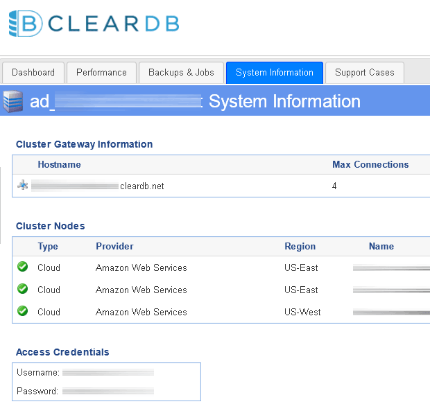 Service credentials
