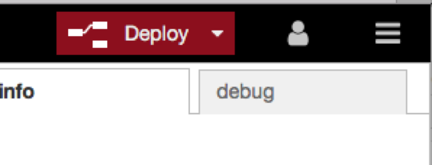 Deploy button on Node-RED