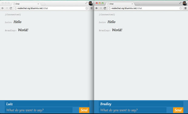Real-time conversation with multiple users