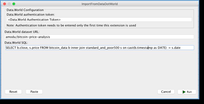 data.world data import configuration