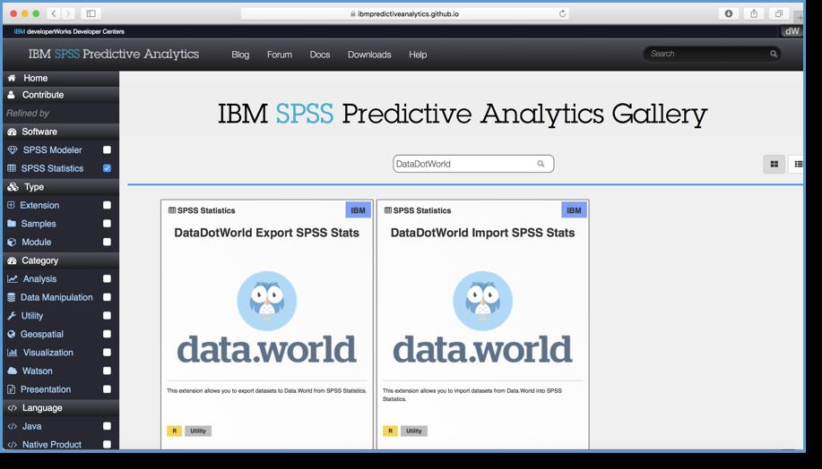 IBM SPSS Statistics Predictive Analytics extensions