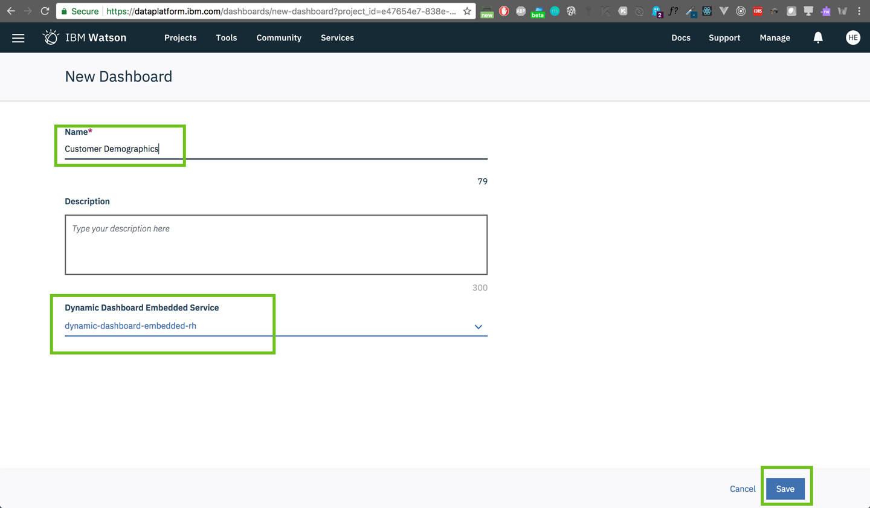 create dashboard: Service is loaded