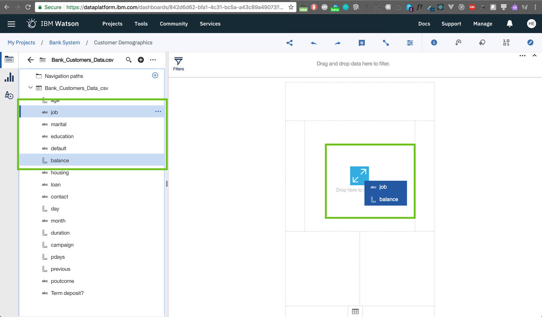 dashboard: Create the first visualization