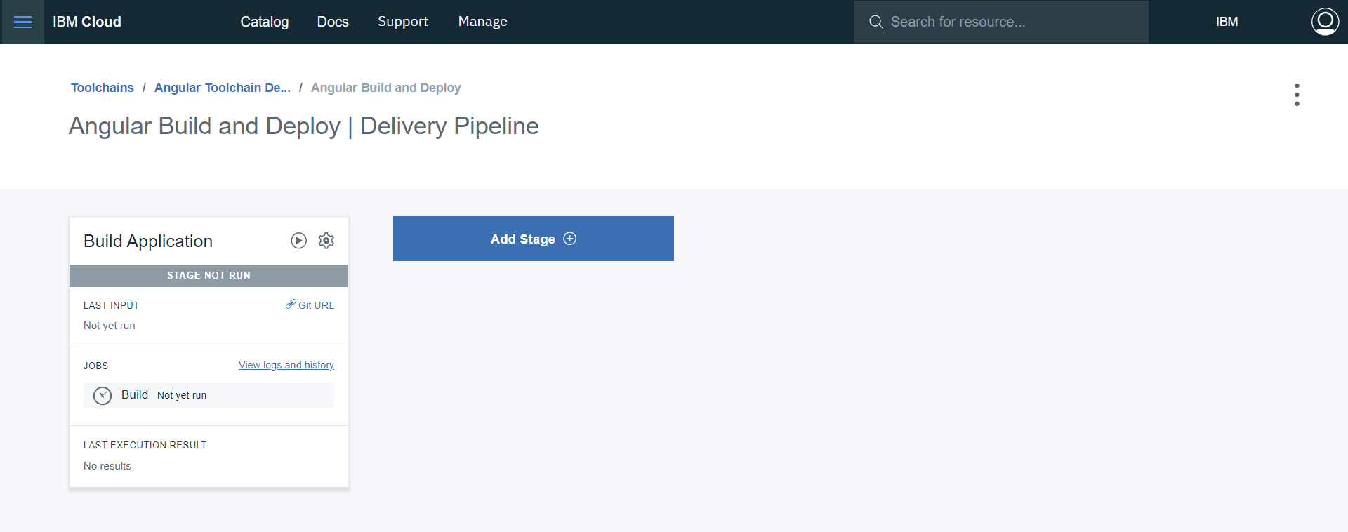 Delivery Pipeline with Build Stage