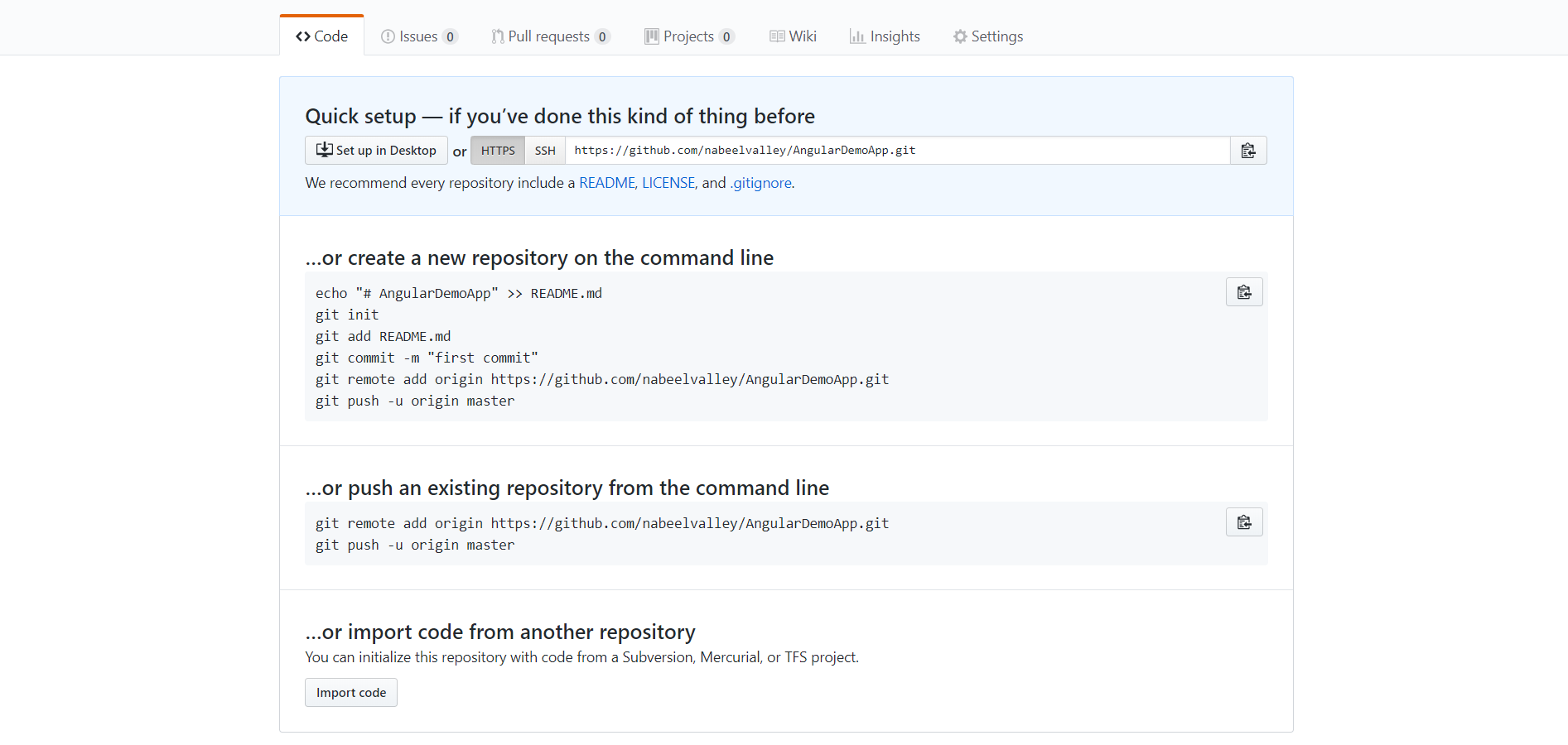 Push app to GitHub