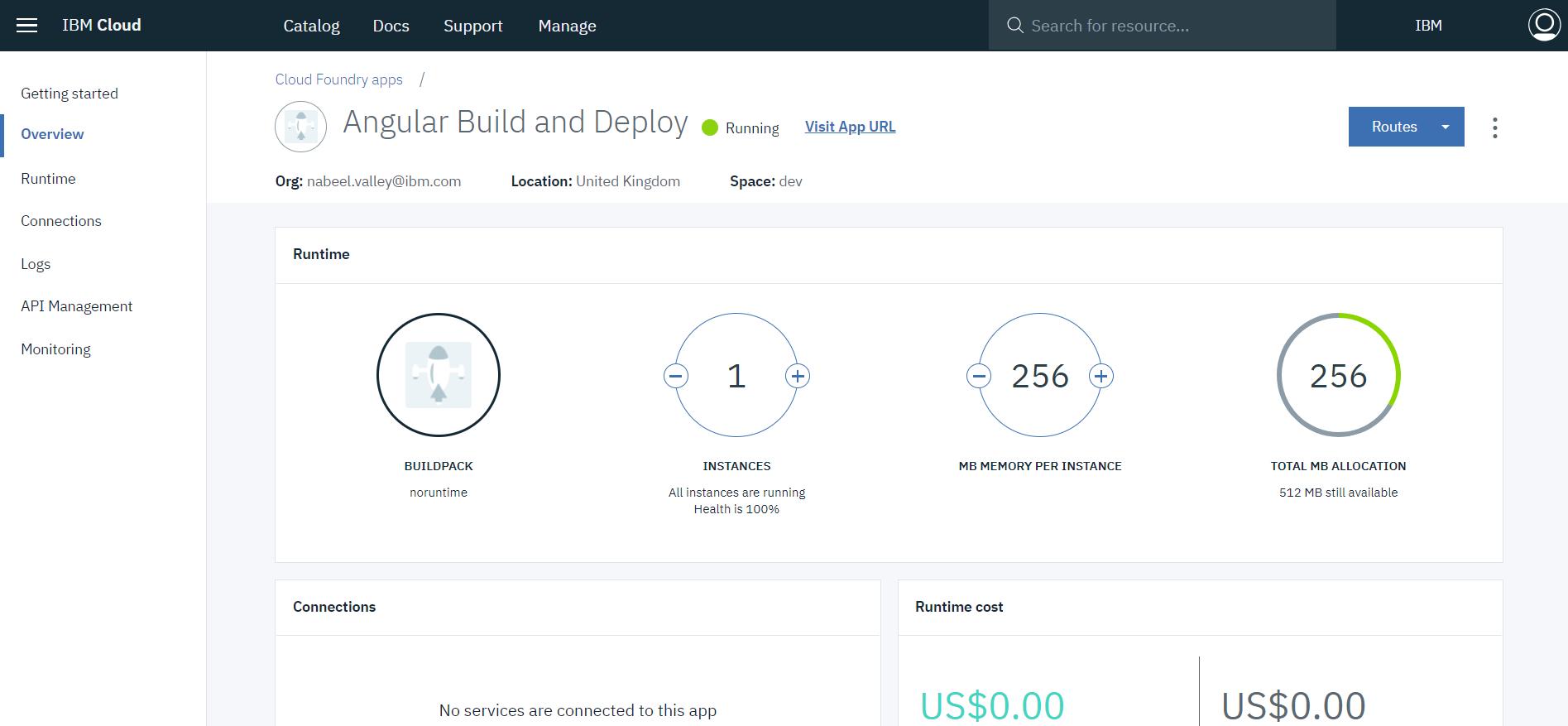 Application Resource Screen