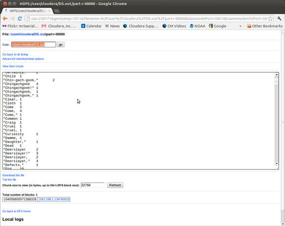 Hadoop example: Hello World with Java, Pig, Hive, Flume