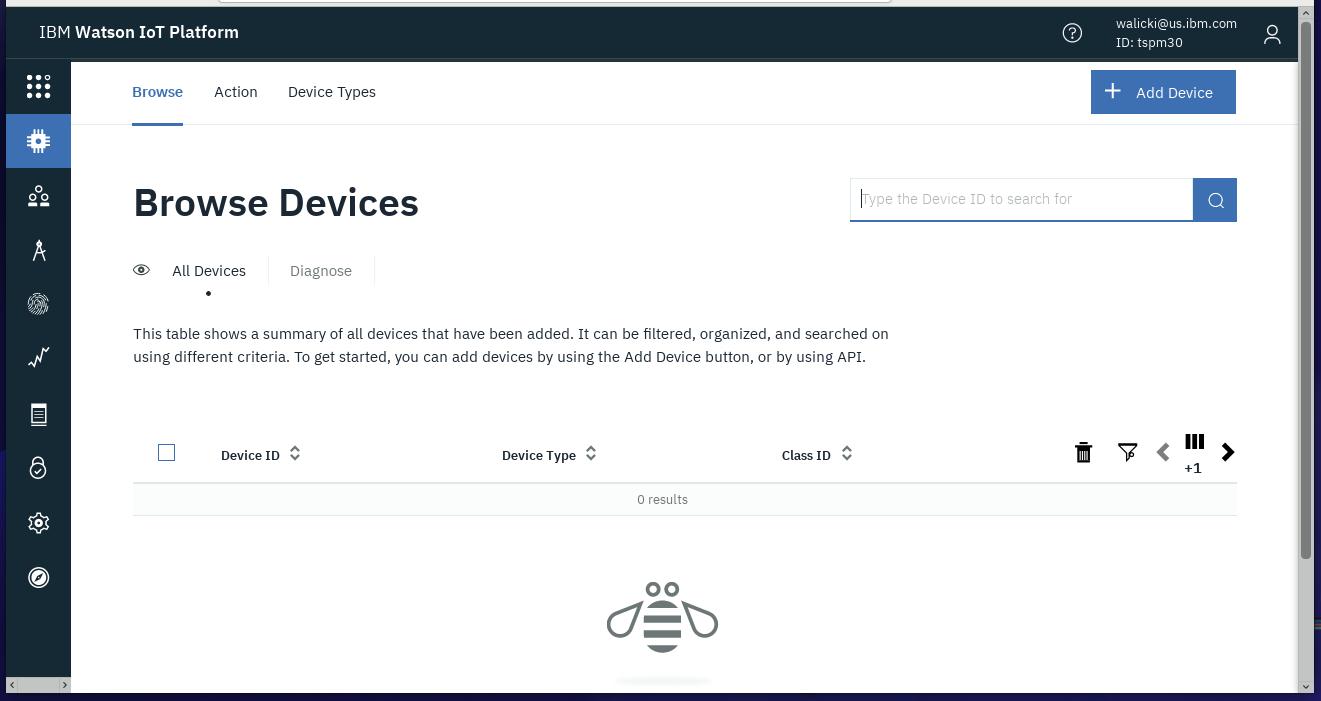 IoT Platform Device Page