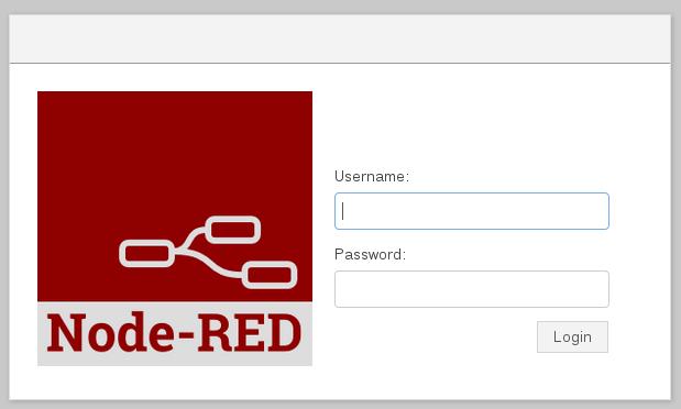 Node-RED login