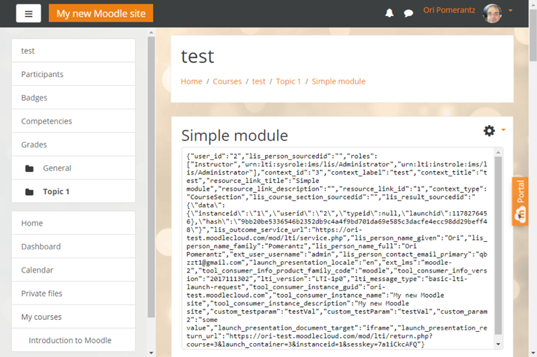 Implement Learning Tools Interoperability modules for Moodle