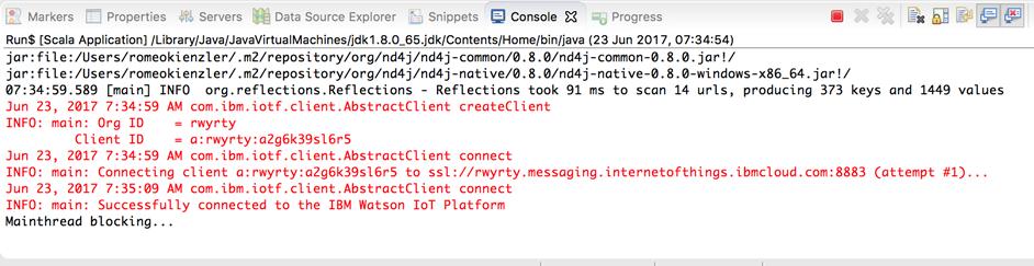 Scala application output