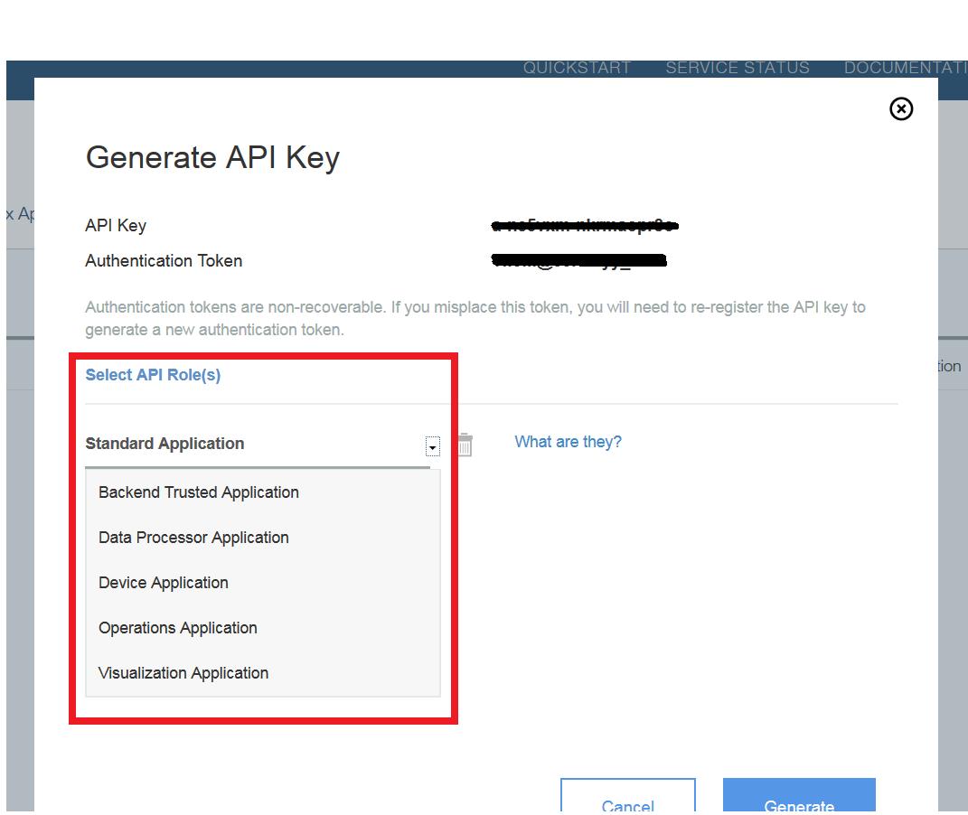 How to generate API key and token in IBM Watson IoT Platform