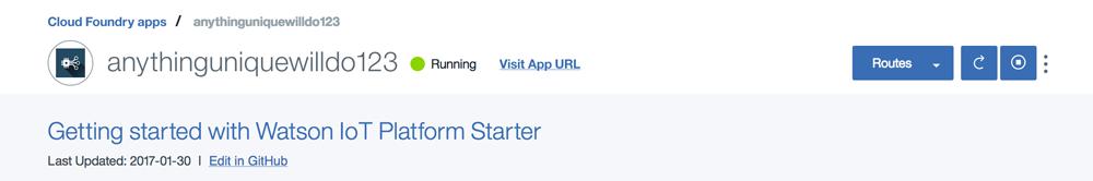 screen capture of the running status
